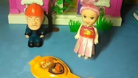 小僵尸要回家吃奶酪棒,奥特曼也要回家吃,小公主也想尝一尝