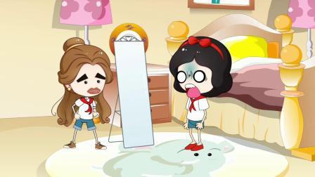 白雪变成了丑八怪,大家都不喜欢她,只有贝尔帮助了白雪!