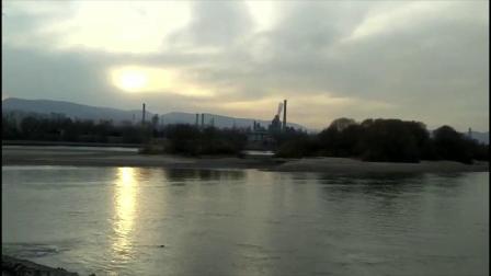 2021年2月22日 甘肃省兰州市安宁区 黄河最美落日时分