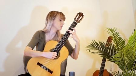 古典吉他美女演绎D调幻想曲与基格舞曲 Phantasia & Giga in D (David Kellner)