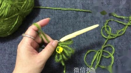 蔷薇钩织福利教程胸花