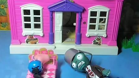 乔治和僵尸是好朋友,小猪来他家里做客,乔治是一点都不客气啊