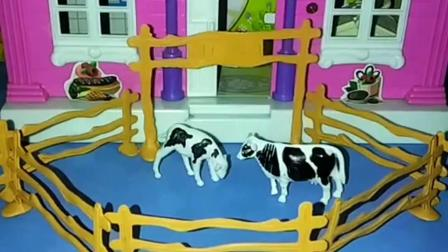 小牛想吃青草,牛妈妈让小牛不要挑食,猪爷爷给什么要吃什么