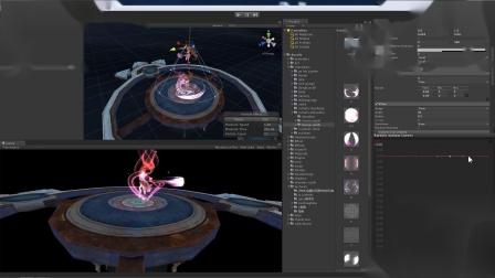 女治疗出场特效2.散发光丨U3D游戏特效教程 丨女治疗师出场特效