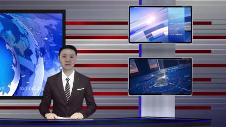 vMix专用虚拟集 演播室场景新闻播报解说直播间抠像背景远中近四镜头
