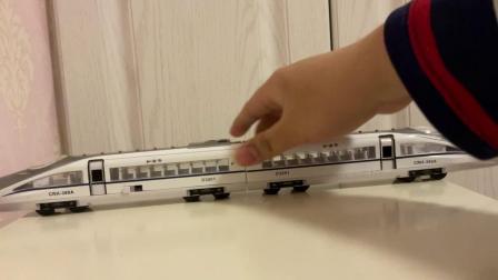 趣乐牌玥乐01:87超长合金版车模火车模型和谐号时速360公里高速列车CRH2-380A回力声光版玩具店