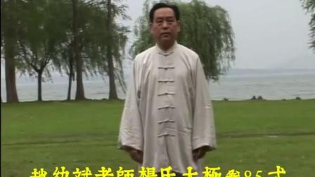 赵幼斌老师85式太极拳示范-王爷株洲