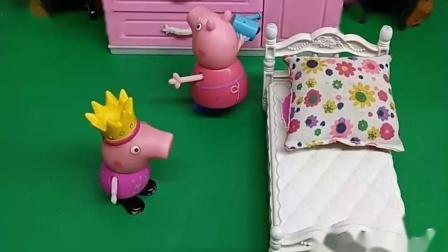 小猪乔治去找猪奶奶,因为他把妈妈的口红弄坏了,就去奶奶家了