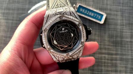 大v腕表 大唯时刻 宇舶刺青改装后镶真钻款腕表!刺青后镶钻改装