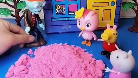 小猪佩奇和萌鸡小队朵朵被抓了,小羊苏西想办法,要学会自救