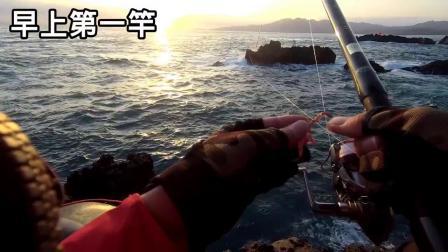 浮游矶钓 立标 一竿双钩黑毛钓组 钓鱼海钓技巧