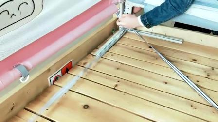 平板床三面护栏绑绳视频