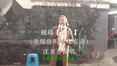 沈亚芬在宁波西塘河公园演唱越剧【追鱼 张郎你听我从实讲】选段
