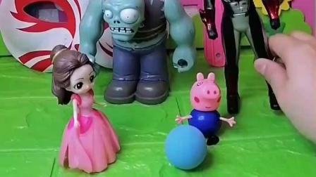 奥特曼能保护乔治,巨人僵尸能保护贝儿公主,大家都是好朋友