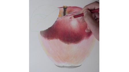 何海洋彩铅苹果,何海洋彩铅基础教程一本通,解锁更多哦!