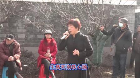 越剧【五女拜寿 小夫妻双双对对跪地上】选段 谢英花在宁波西塘河公园演唱