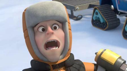 熊出没:雪貂变身雪怪,也不是大马猴的对手,谁叫他有武器呢