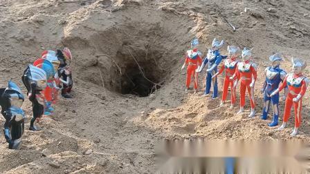玩具小剧场,迷你奥特曼和奥特超人们战胜了贝利亚,还救了欧布