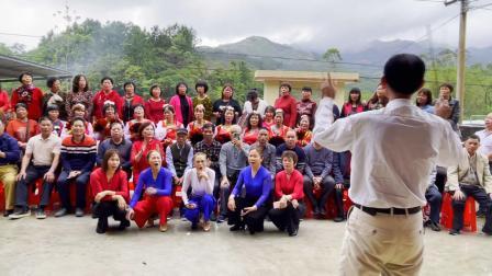 锦江歌舞队那吉东坑庆三八表演大合唱《我的祖国》