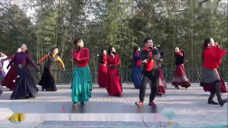 紫竹院广场舞《蓝色天梦》,两个版本和谐共存,真的很好看!_超清