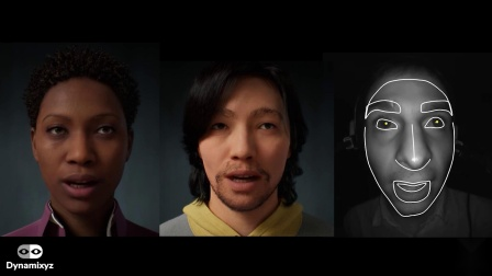 MetaHumans facial animation Demo with Dynamixyz