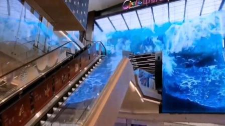 影院LED透明屏也可3D大海浪 透感更科技