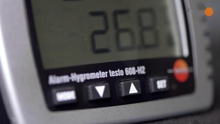 德图testo 608-H2台式温湿度表带超过限值发出LED报警,连续测量空气温度环境湿度和露点