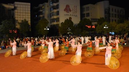 3 . 8节文河社区舞蹈队演出节目 (伞舞江南情)