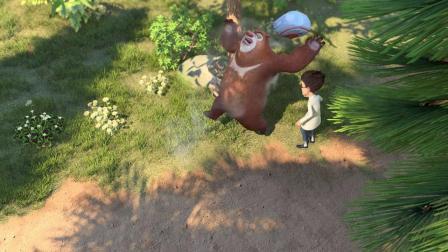 熊出没:一个烤箱而已,脾气这么暴躁,把狗熊给绑架了