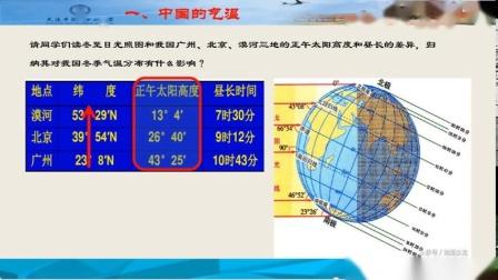 高二地理中国地理中国气候第一课