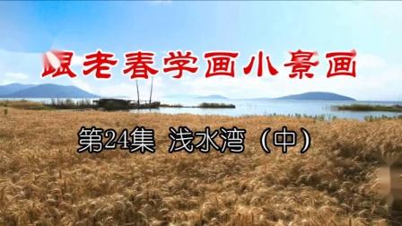 热播国画入门教程 跟老春学国画视频24浅水湾(中)