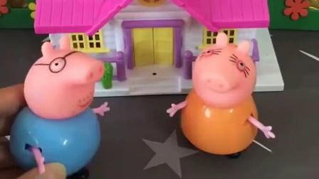 猪爸爸让猪妈妈做饭洗衣服,怪兽觉得猪妈妈不好当,很体谅猪妈妈