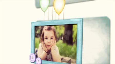 A3254 AE模板 可爱 儿童 宝宝 婴儿 满月 百天 周岁 生日 成长 纪念相册