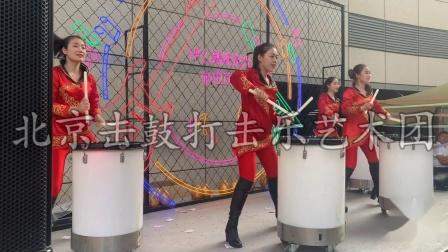 北京女子激情水鼓开场秀北京车展活动击鼓演出