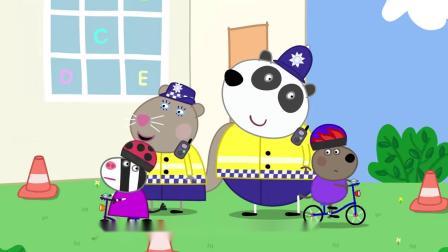 小猪佩奇:羚羊夫人请来警官,给同学们上了一课,羚羊夫人惨了