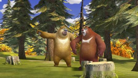 熊出没:欠费要断电,光头强自制发电机,还让熊熊费力