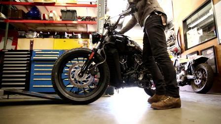印第安Scout Tracker风格复古摩托车