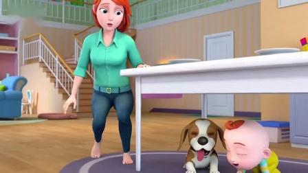 超级宝贝jojo:你家的孩子喜欢趴桌子底下吗