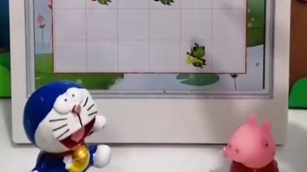 青蛙们回不了家,佩奇和哆啦A梦来帮他们了