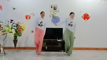 大荔凤玲广场舞《拉紧手跟我走》