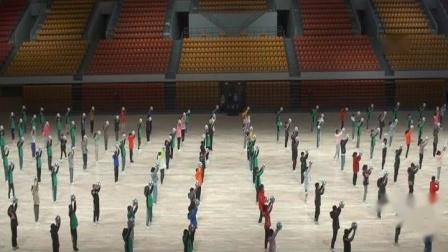 6-2021年延安新区体育馆[全民健身美好生活]陕西省第三届全民健身运动会,演练[篮球和舞蹈]组合方阵