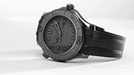 欧米茄2021新品海马系列300米潜水表墨黑款