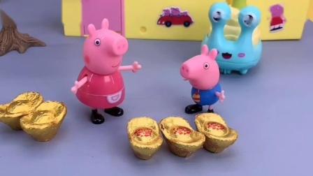 大宇答对数学题鸡妈妈带去吃好吃的,猪妈妈问乔治数学,乔治不会