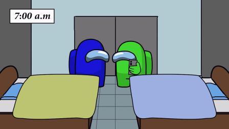 我们之中:小蓝小绿一起休息!