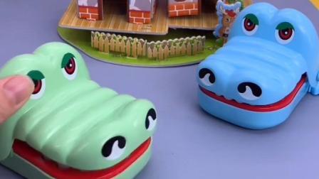大鳄鱼打喷嚏把牙喷出去了,还是狗狗们帮忙找回来