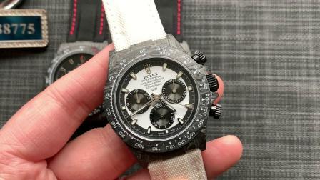 大v腕表 N厂碳纤维迪通拿全新推出搭载4130机芯!碳纤维迪通拿腕表!