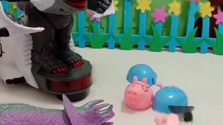 乔治和恐龙比爸爸,猪爸爸还会分身,真厉害