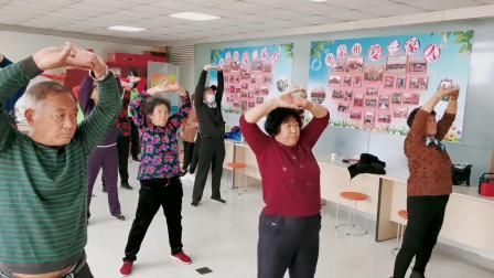 """开发区老年体协""""关爱失独""""公益活动 健身气功-八段锦社区培训"""