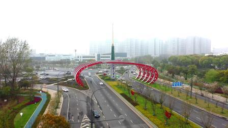 航拍南京江宁大学城