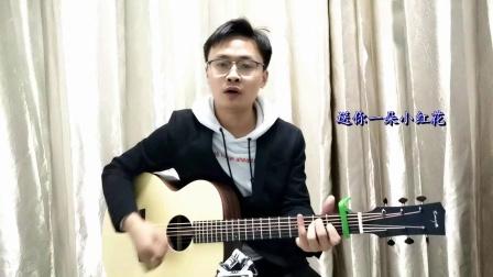 赵英俊《送你一朵小红花》完整升调吉他弹唱教学